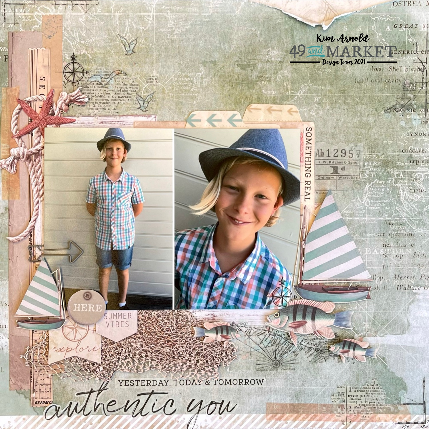 Authentic You - Layout by Kim Arnold