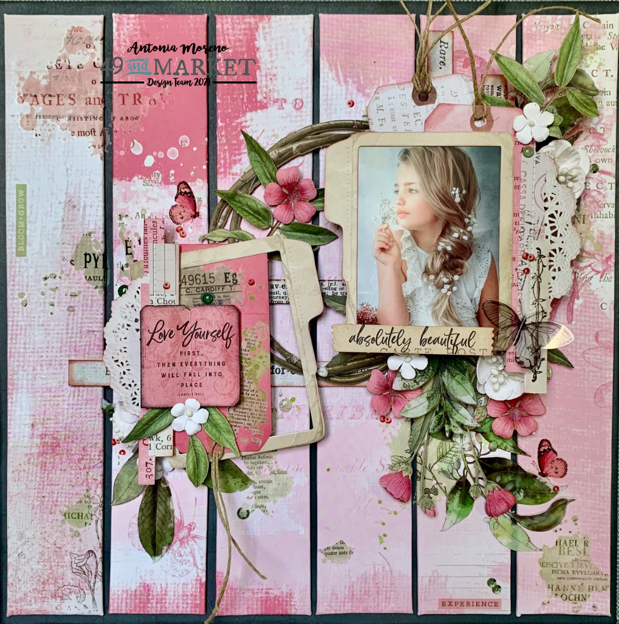 Absolutely beautiful - Layout by Antonia Moreno