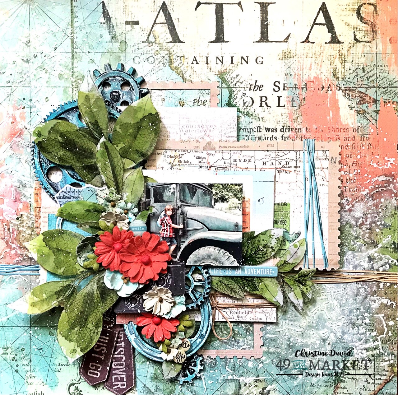 Life is an adventure - Layout by Christine David