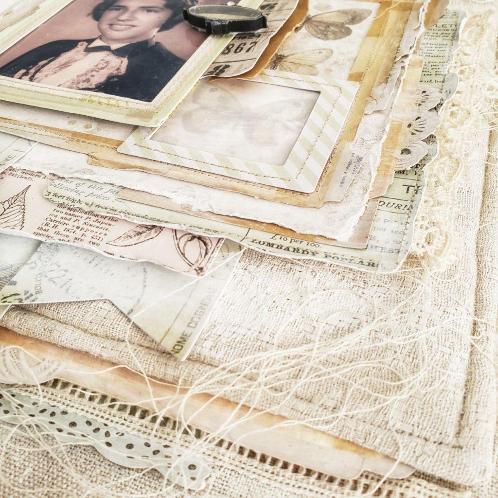 """Memories"" fabric layout by Ana Paula Leal"