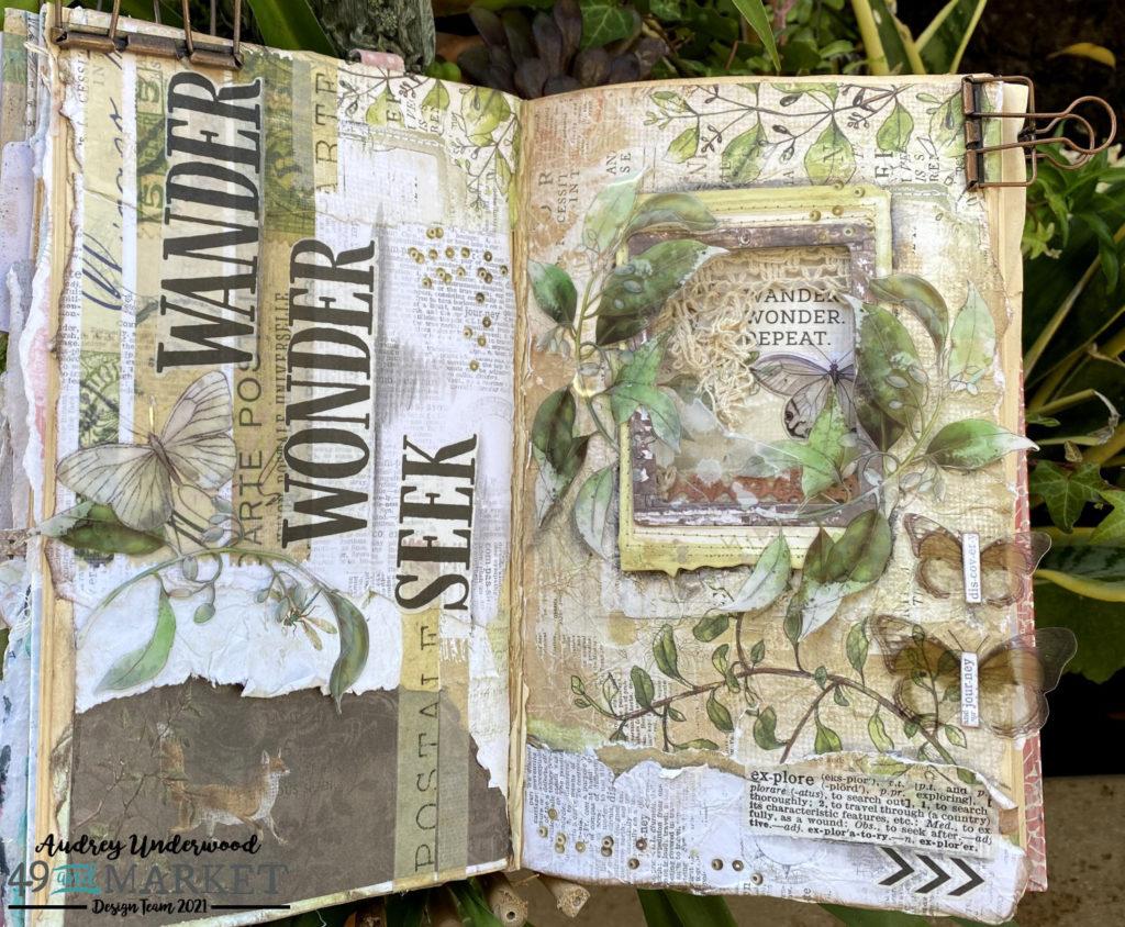 Wander, Wonder, Seek - Journal Page by Audrey Underwood
