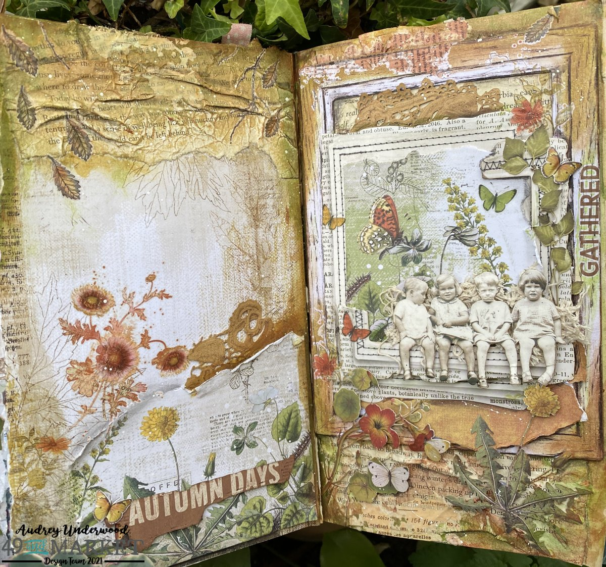 Autumn Hues - Journal Page by Audrey Underwood