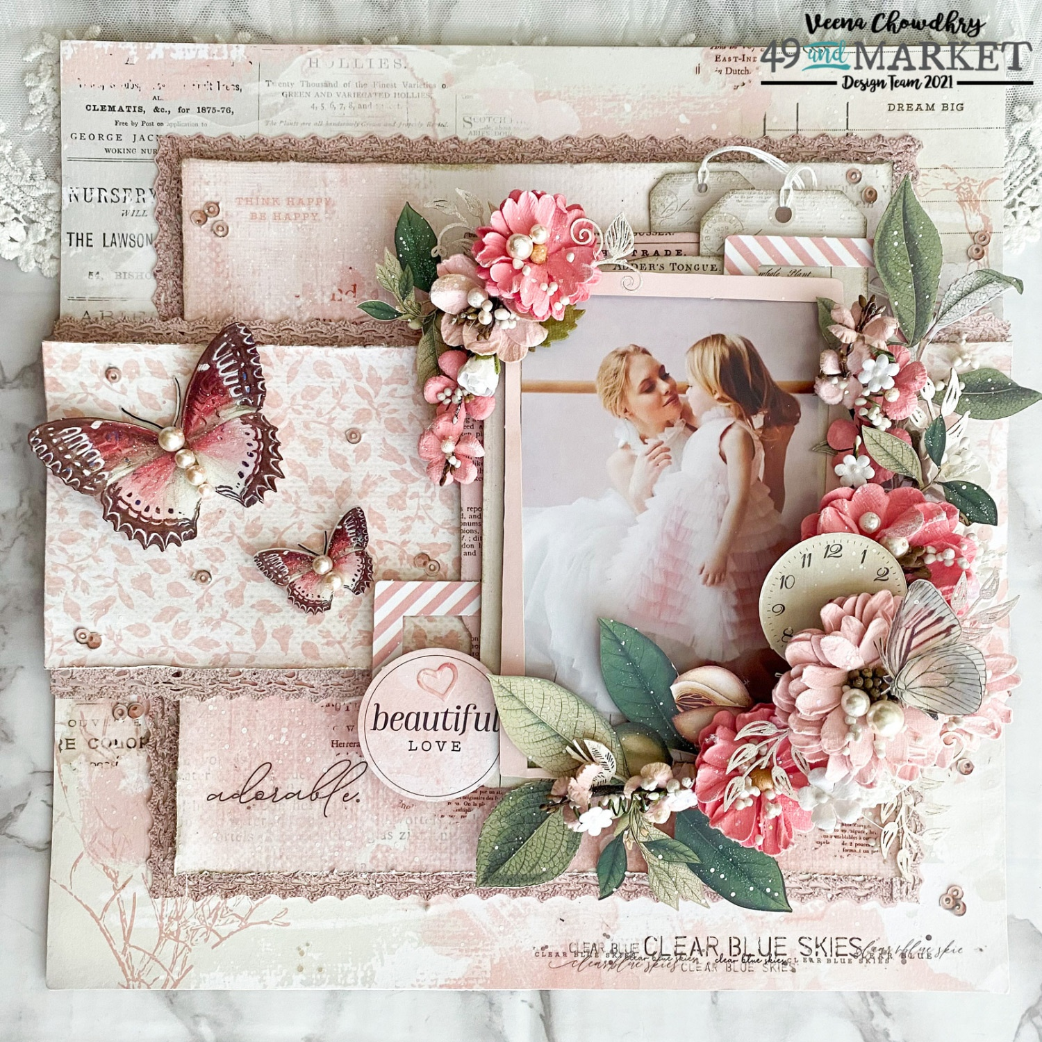 Beautiful Love - Layout by Veena Chowdhry