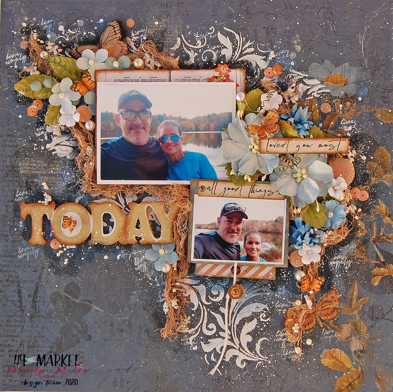 Scrapbooking Interactive Layout by Marilyn