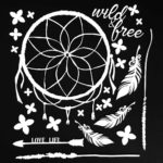 AB-86714 6x6 Archival Board - Wild and Free (White)