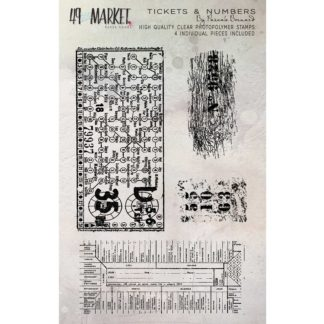 PB-87698 Pascale's Tickets and Numbers Stamp Set