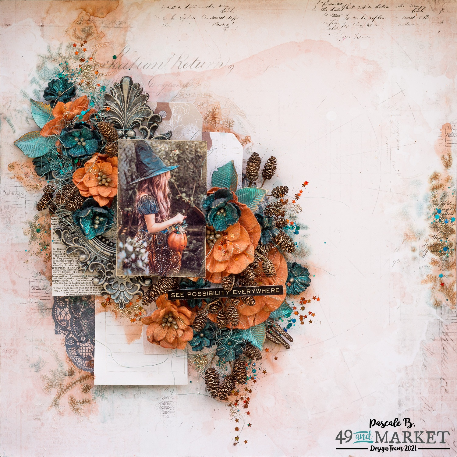See Possibility Everywhere - Mixed media layout by Pascale B.