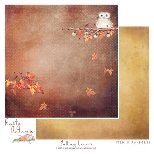 RA-86851 Rusty Autumn Collection - Falling Leaves