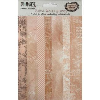 VAC-32273 Vintage Artistry Coral Washi Tape