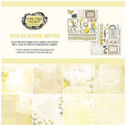 VAC-32617 Vintage Artistry Butter 12x12 Collection Pack
