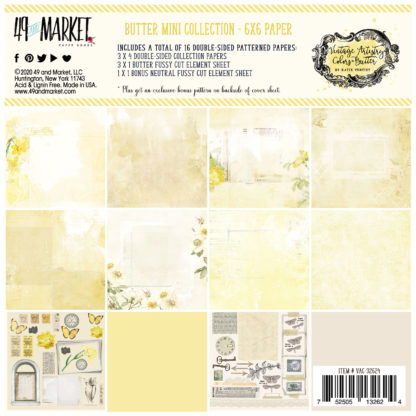 VAC-32624 Vintage Artistry Butter 6x6 Collection Pack