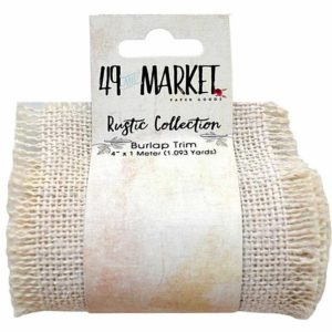 "Burlap Ribbon Roll - Cream 4"" X 1m RB 84376"